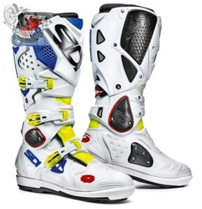 Мотоботы SIDI CROSSFIRE 2 SRS YELLOW FLUO WHITE BLUE