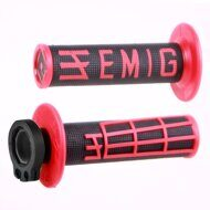 Ручки руля MX V2 Lock-On; EMIG Grip - Black/Red