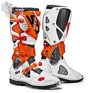 Мотоботы SIDI CROSSFIRE 3 WHITE ORANGE BOOTS