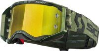 Очки кроссовые SCOTT PROSPECT SR MILITARY KHAKI GREEN YELLOW CHROME LENS