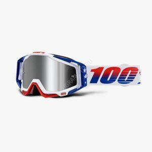 Очки 100% Racecraft Plus LE MXDN Red/White/Blue / Injected Silver Flash Mirror Lens