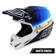 Мотошлем Troy Lee Designs SE4 CARBON MIRAGE NAVY / WHITE MIPS