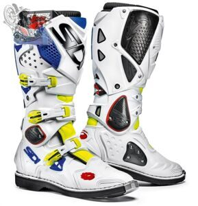 Мотоботы SIDI CROSSFIRE 2 YELLOW FLUO WHITE BLUE