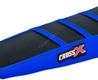 Покрытие сиденья Crossxracing HUSQVARNA FC/TC 16-18, FE/TE 17-19 BLACK-BLUE-BLUE