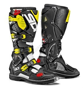 Мотоботы SIDI CROSSFIRE 3 WHITE BLACK YELLOW FLUO BOOTS